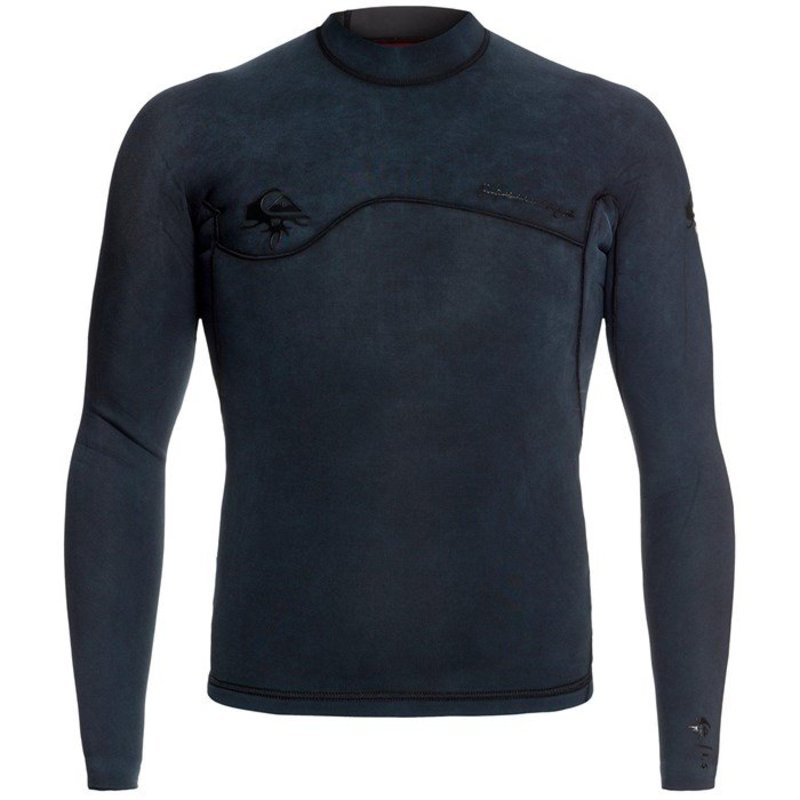 クイックシルバー メンズ 上下セット 水着 Quiksilver 1.5mm Originals Monochrome Wetsuit Top Black