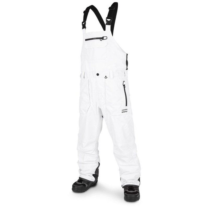 ボルコム メンズ カジュアルパンツ ボトムス Volcom Rain GORE-TEX Bib Overalls White