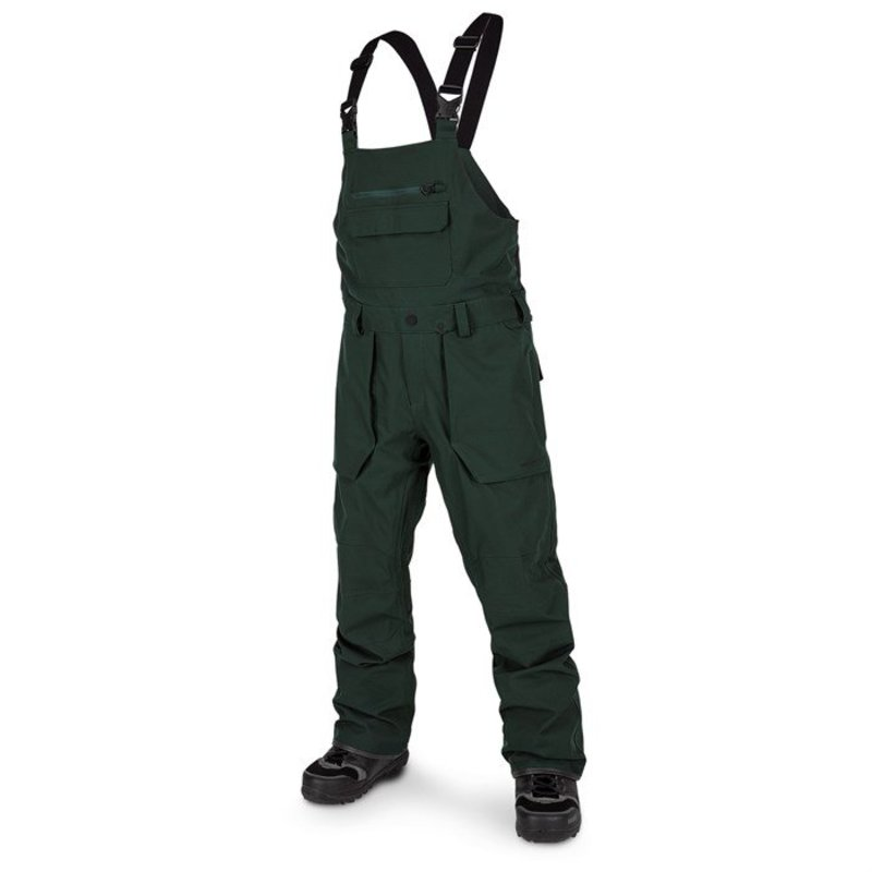 ボルコム メンズ カジュアルパンツ ボトムス Volcom Roan Bib Overalls Dark Green