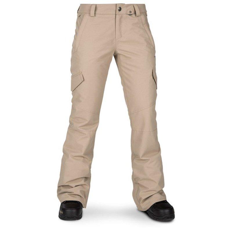 ボルコム レディース カジュアルパンツ ボトムス Volcom Bridger Insulated Pants - Women's Sand Brown