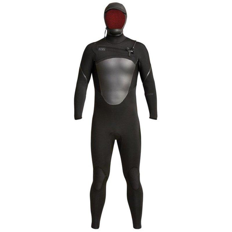 エクセル メンズ 上下セット 水着 XCEL 5/4 Axis Hooded Wetsuit Black