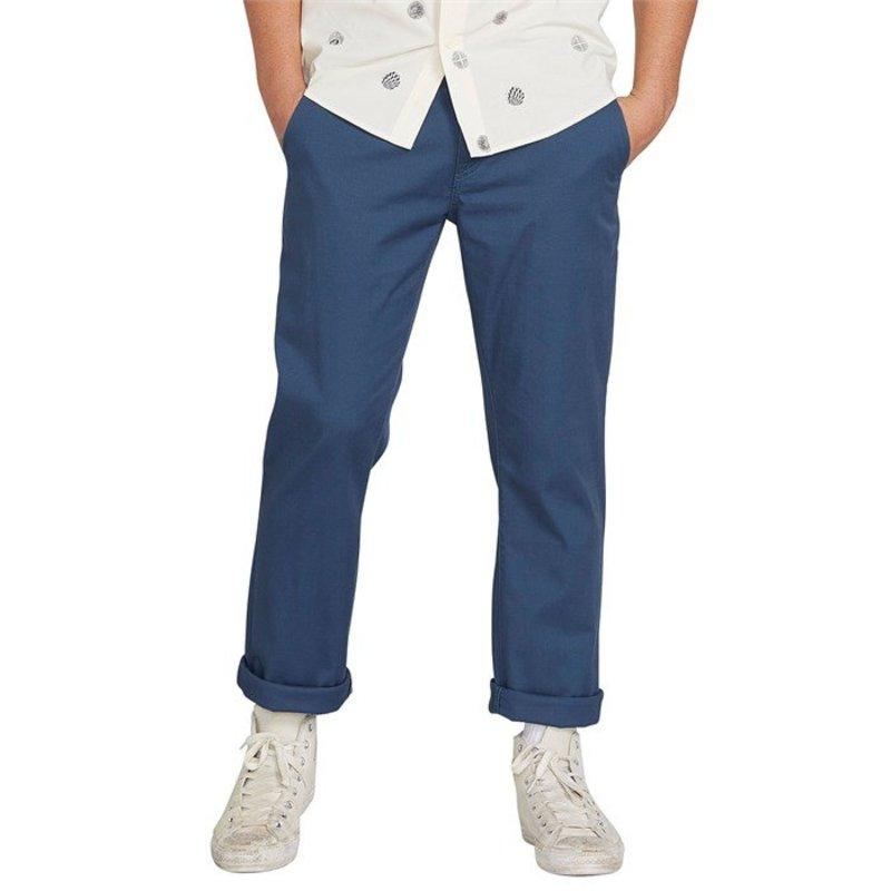 ボルコム メンズ カジュアルパンツ ボトムス Volcom Frickin Modern Stretch Chino Pants Smokey Blue