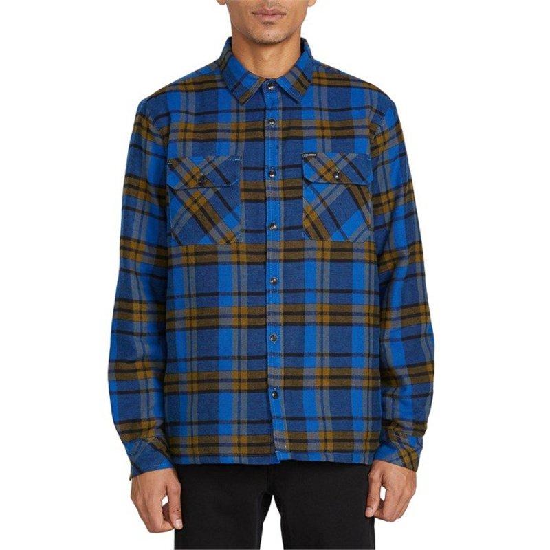 ボルコム メンズ シャツ トップス Volcom Belgrade Long-Sleeve Flannel Shirt Black