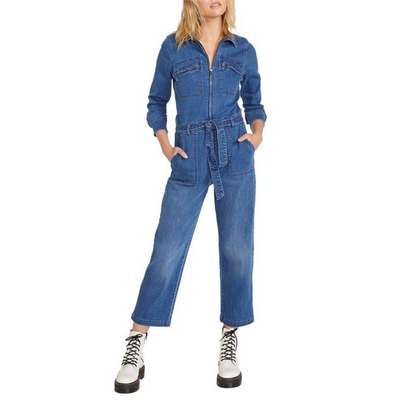 ボルコム レディース カジュアルパンツ ボトムス Volcom Fix It Boiler Jumpsuit - Women's Laguna Blue