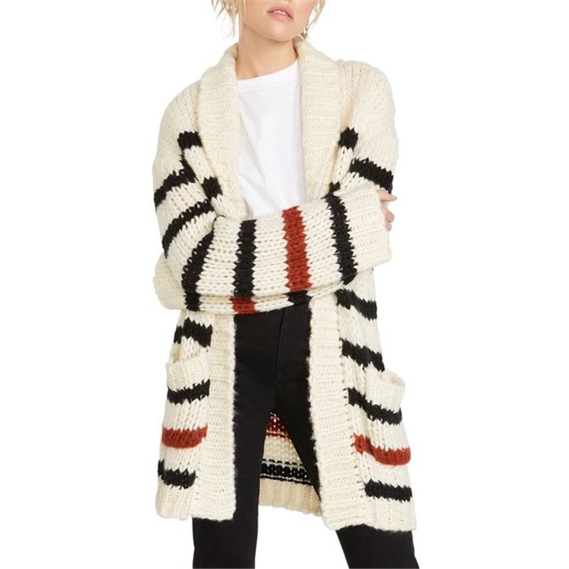ボルコム レディース ニット・セーター アウター Volcom The Big Cozy Cardigan Sweater - Women's Star White