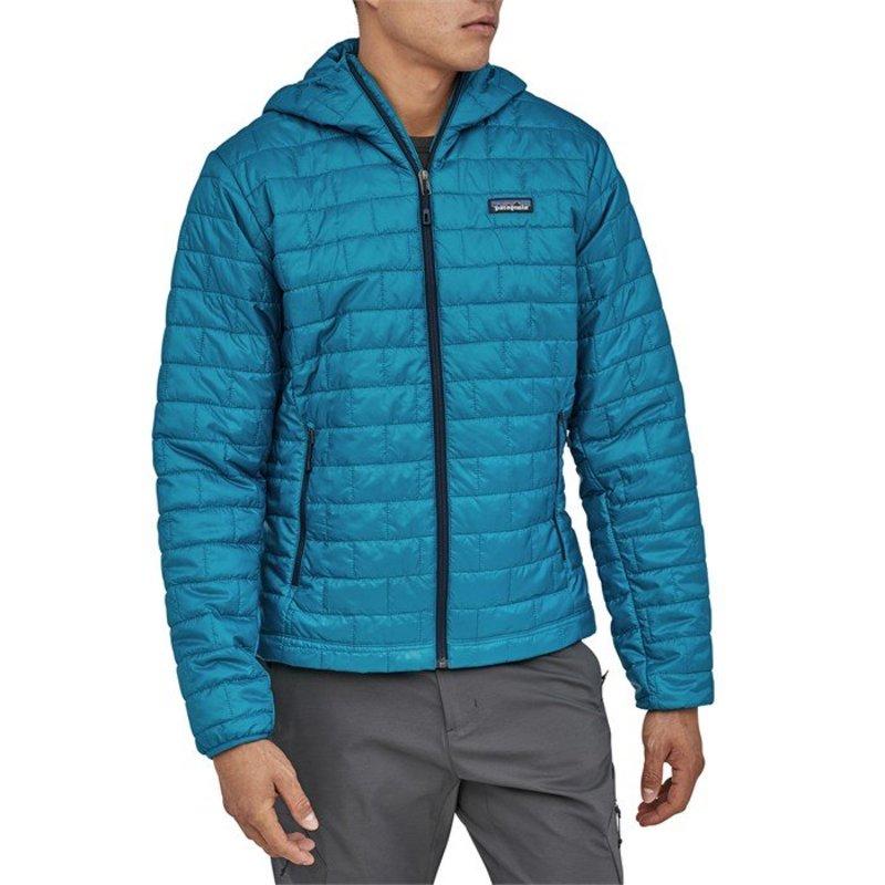 パタゴニア メンズ ジャケット・ブルゾン アウター Patagonia Nano PuffR Hoodie Balkan Blue