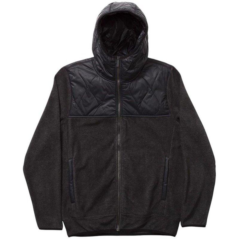 ホールデン メンズ ジャケット・ブルゾン アウター Holden Sherpa Hybrid Zip-Up Jacket Black