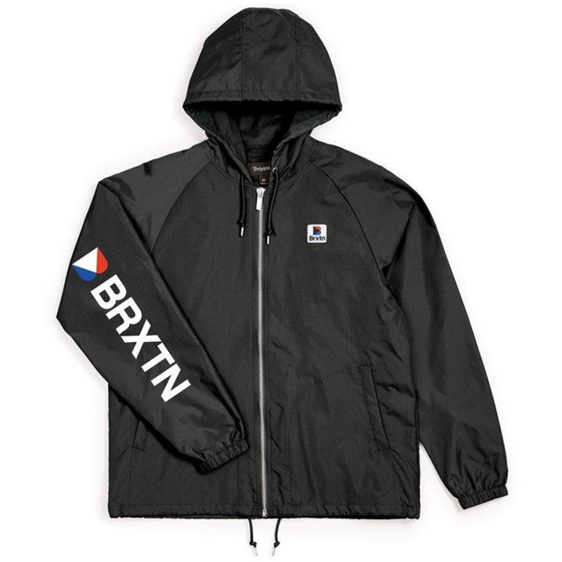 ブリクストン メンズ ジャケット・ブルゾン アウター Brixton Claxton Stowell Hood Jacket Black