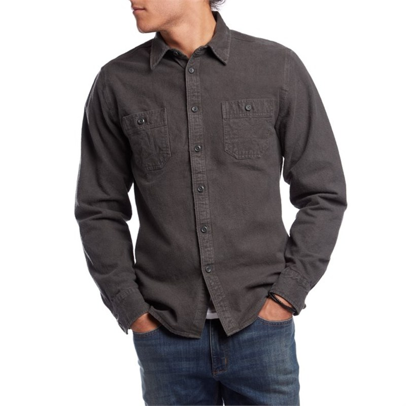 アーボー メンズ シャツ トップス Arbor Foundation Chamois Shirt Black