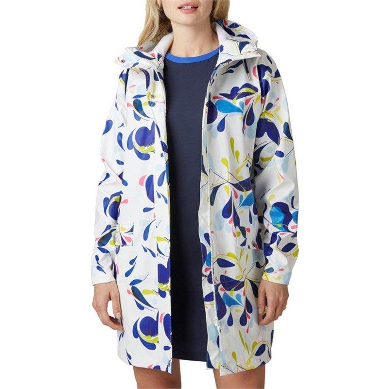 ヘリーハンセン レディース ジャケット・ブルゾン アウター Helly Hansen Moss Rain Coat - Women's Sling White Print