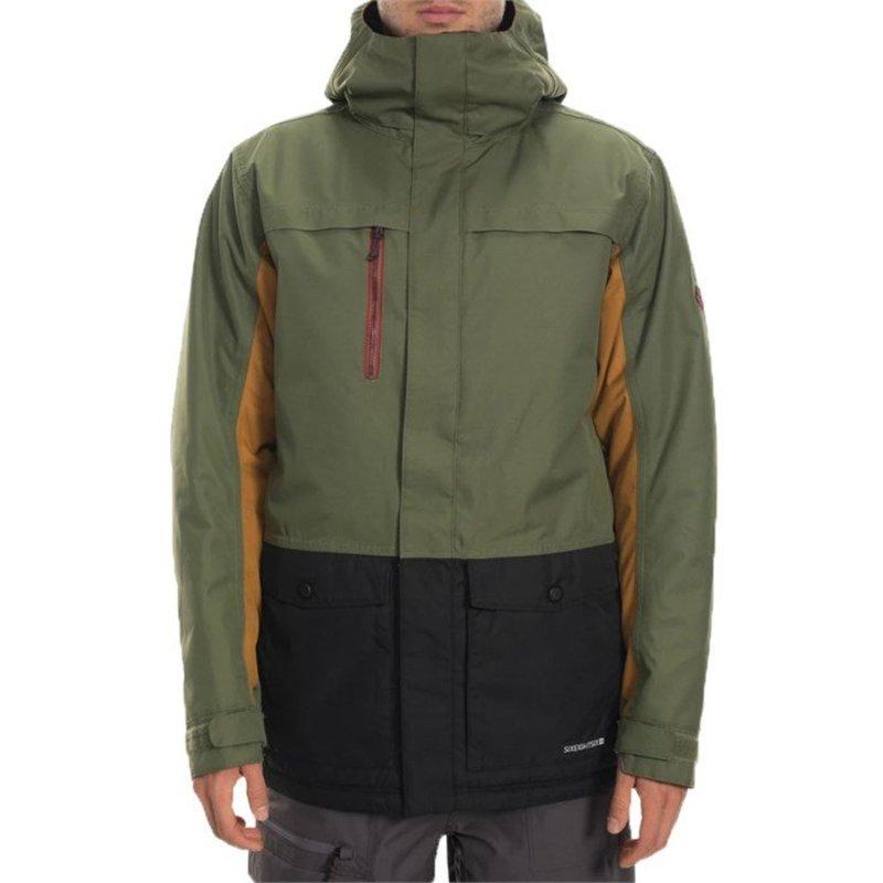 シックスエイトシックス メンズ ジャケット・ブルゾン アウター 686 Anthem Insulated Jacket Surplus Green Colorblock