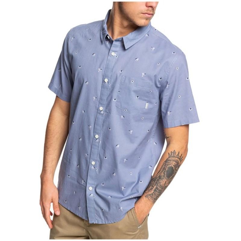 クイックシルバー メンズ シャツ トップス Quiksilver Snapper Short-Sleeve Shirt Gardenia Snapper