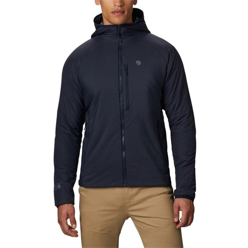 マウンテンハードウェア メンズ ジャケット・ブルゾン アウター Mountain Hardwear Kor Strata Hooded Jacket Dark Zinc