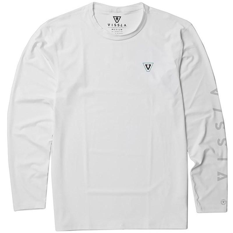 ヴィスラ メンズ トップのみ 水着 Vissla All Time Long Sleeve Surf Shirt White