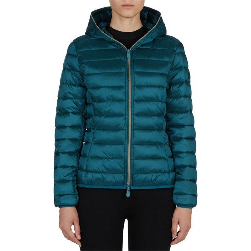 セイブ ザ ダック レディース ジャケット・ブルゾン アウター Save the Duck Giga Short Hood Jacket - Women's Alpine Green