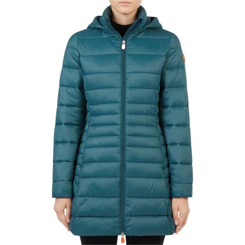 セイブ ザ ダック レディース ジャケット・ブルゾン アウター Save the Duck Giga Long Hood Jacket - Women's Alpine Green