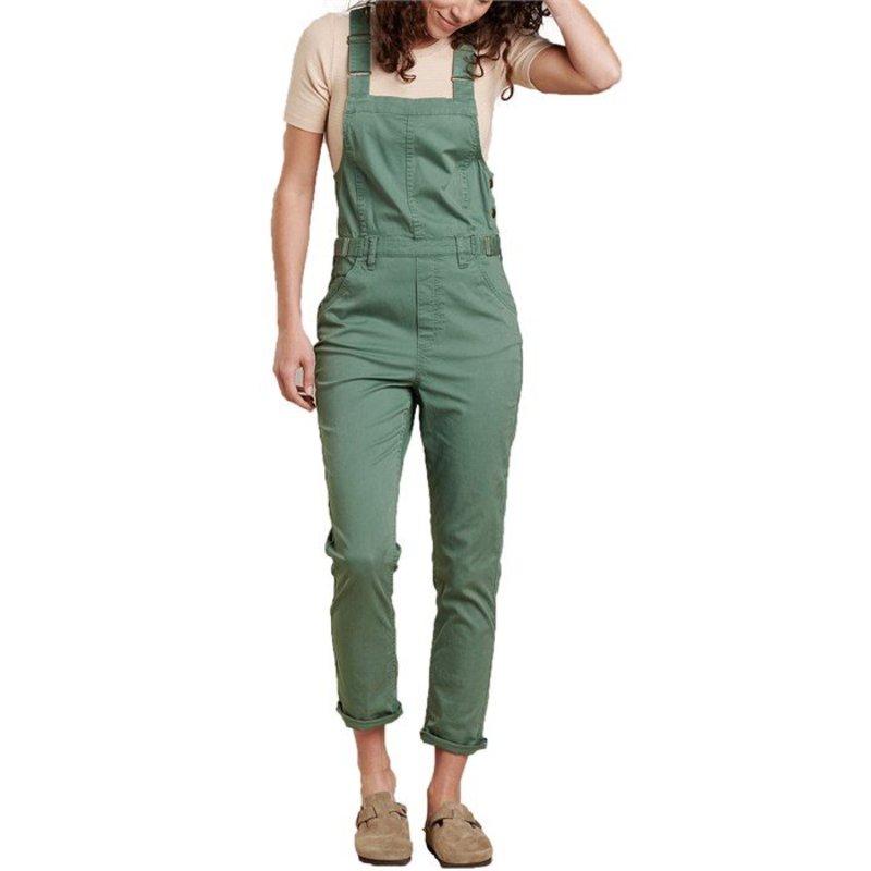 トードアンドコー レディース カジュアルパンツ ボトムス Toad & Co Touchstone Overalls - Women's Duck Green Vintage Wash