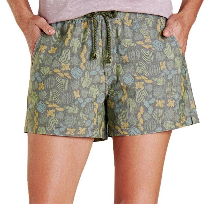 トードアンドコー レディース ハーフパンツ・ショーツ ボトムス Toad & Co Boundless Shorts - Women's Olive Cactus Print