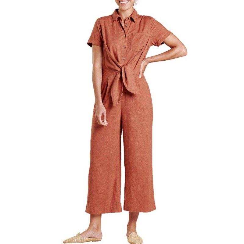 トードアンドコー レディース カジュアルパンツ ボトムス Toad & Co Taj Hemp Jumpsuit - Women's Coconut Shell