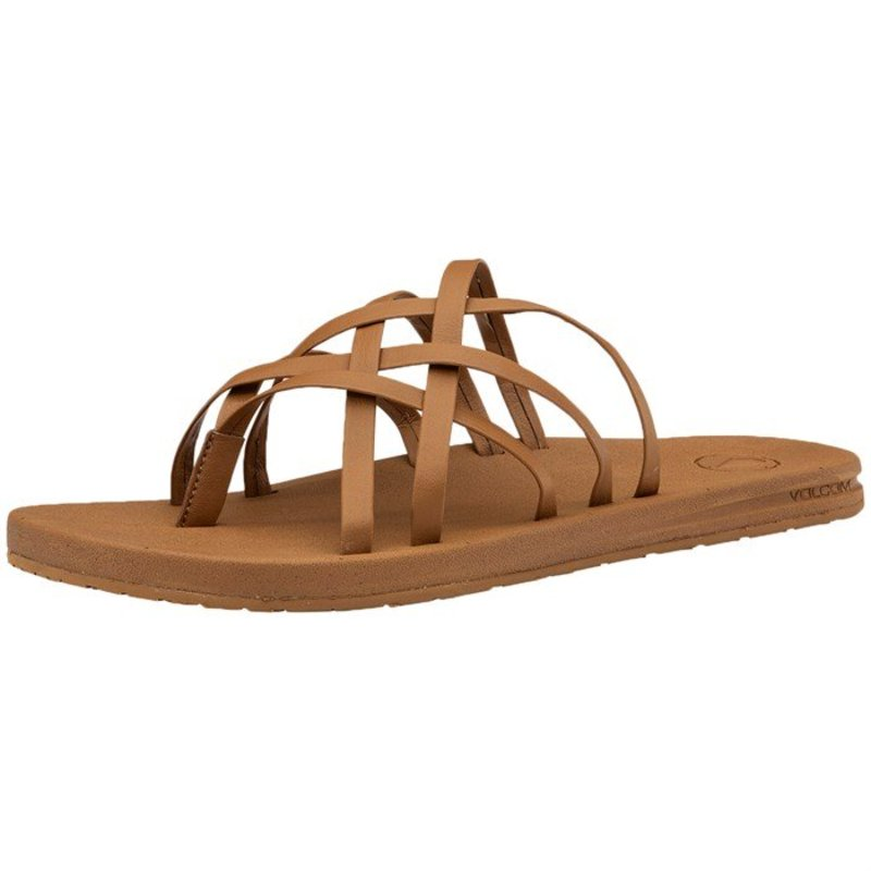 ボルコム レディース サンダル シューズ Volcom E-Cliner Multi-Strap Sandals - Women's Cognac