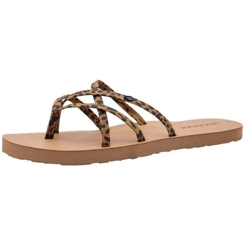 ボルコム レディース サンダル シューズ Volcom New School II Sandals - Women's Cheetah