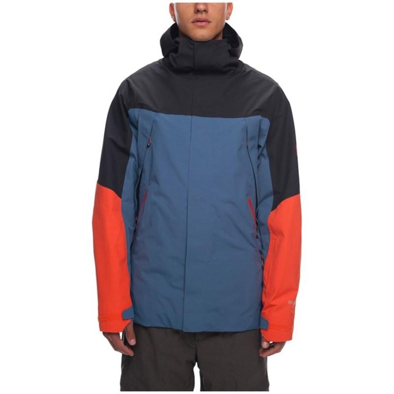 シックスエイトシックス メンズ ジャケット・ブルゾン アウター 686 Stretch GORE-TEXR Zone Thermagraph Jacket Bluesteel Colorblock
