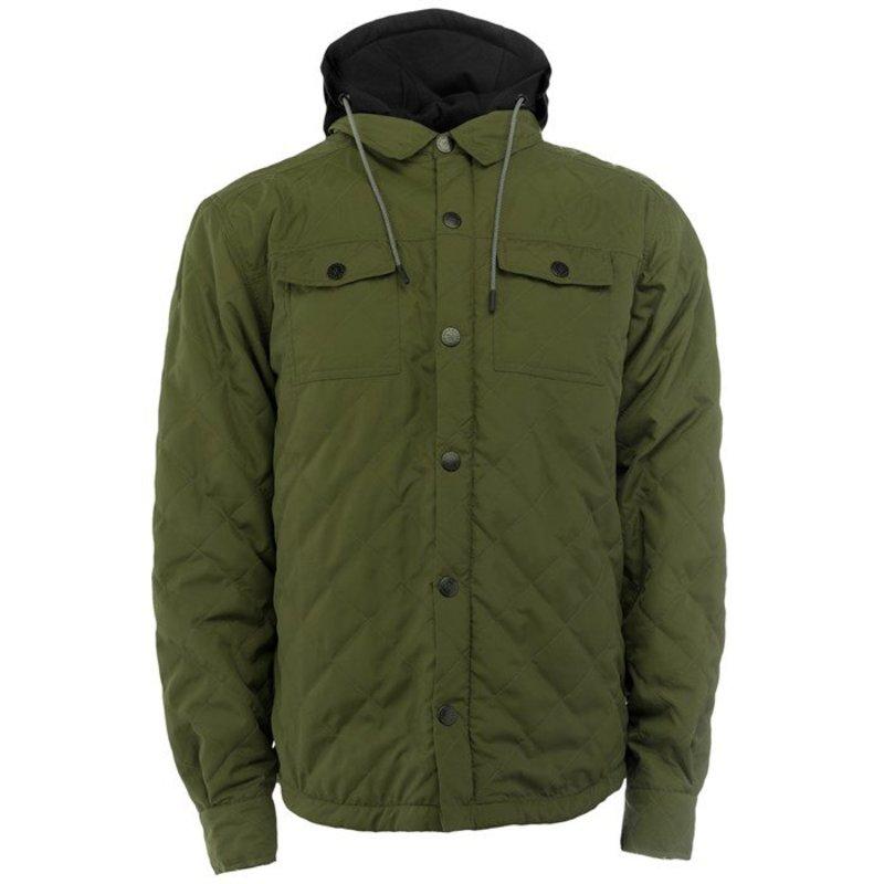 サガ メンズ ジャケット・ブルゾン アウター Saga Workwear Jacket Quilted Olive