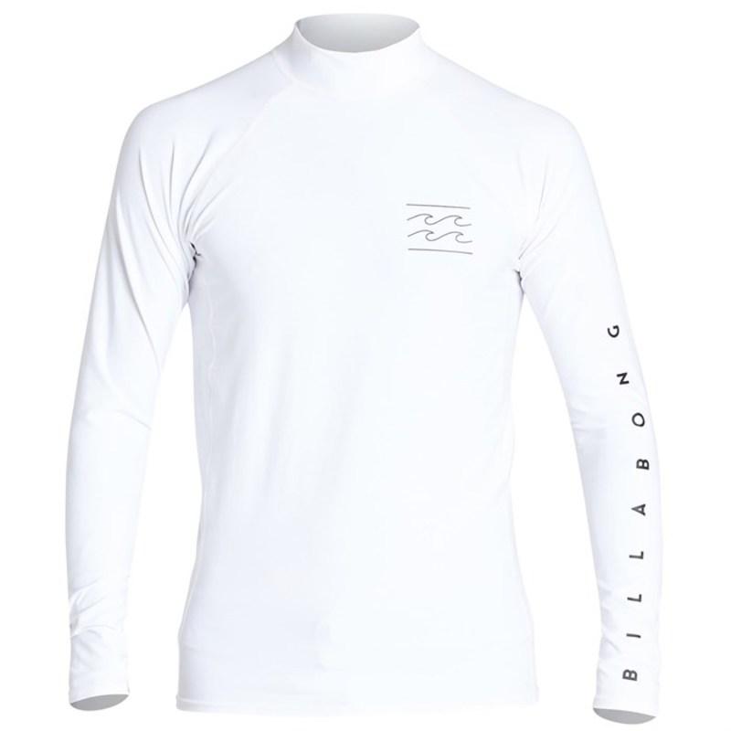 ビラボン メンズ トップのみ 水着 Billabong Unity Performance Fit Long Sleeve Rashguard White