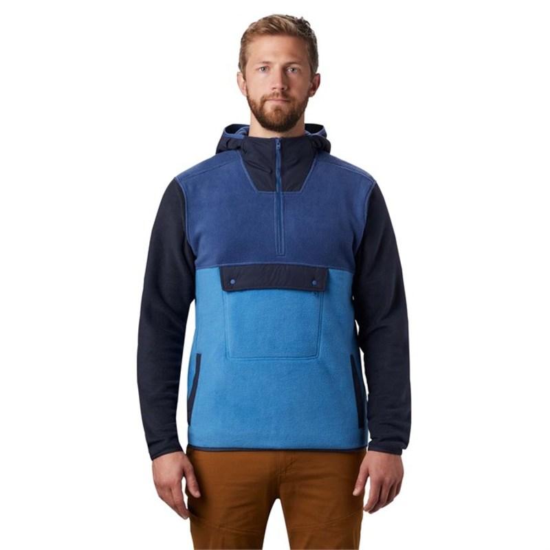 マウンテンハードウェア メンズ パーカー・スウェット アウター Mountain Hardwear UnClassic Fleece Pullover Hoodie Better Blue