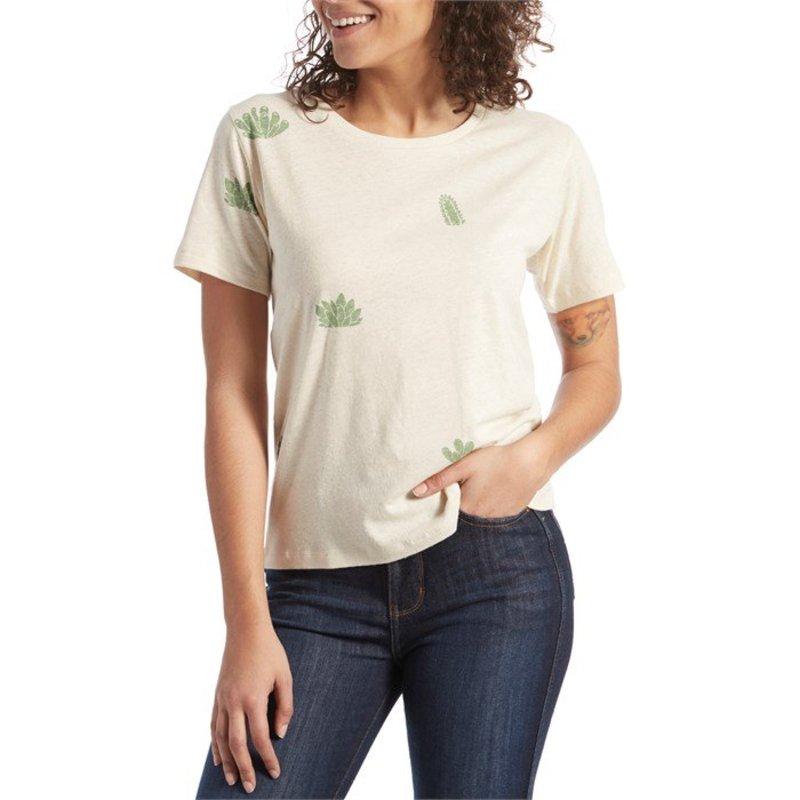 モラスク レディース Tシャツ トップス Mollusk Hemp Cactus Garden T-Shirt - Women's Natural