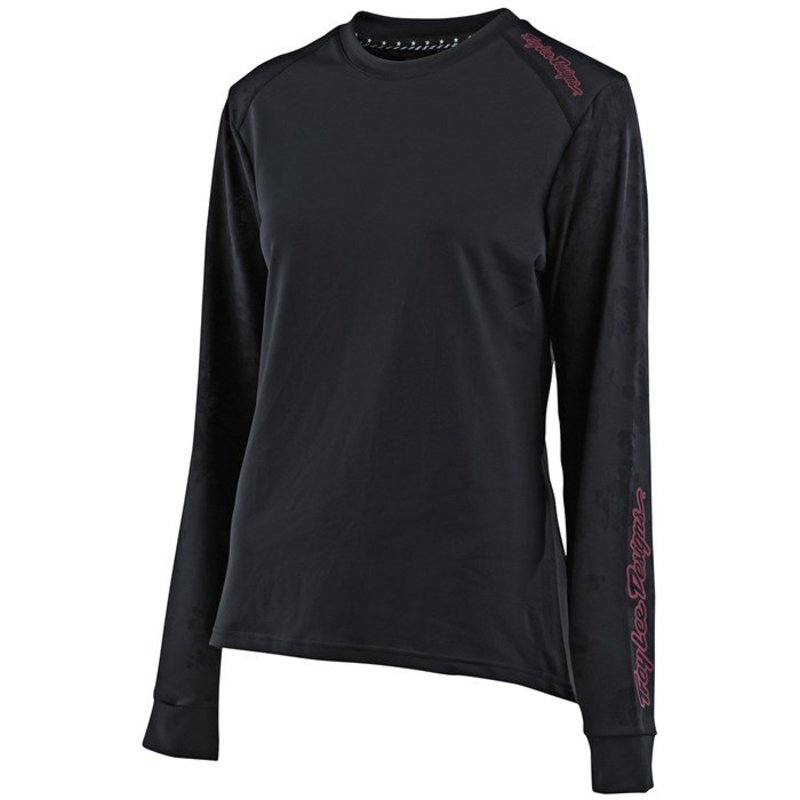 トロイリーデザイン レディース Tシャツ トップス Troy Lee Designs Lilium L/S Jersey - Women's Floral Black