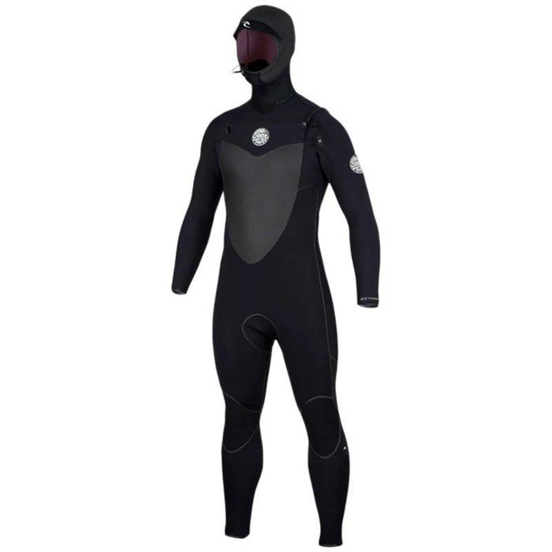 リップカール メンズ 上下セット 水着 Rip Curl 5/4 Flashbomb Hooded Wetsuit Black