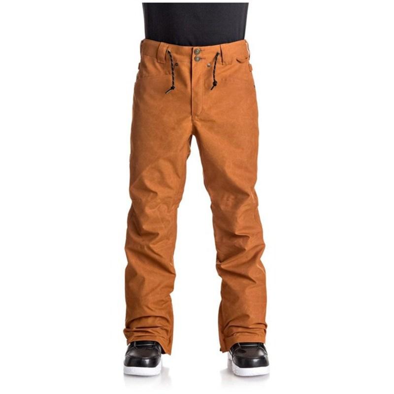 ディーシー メンズ カジュアルパンツ ボトムス Relay Pants Waxed Leather Brown