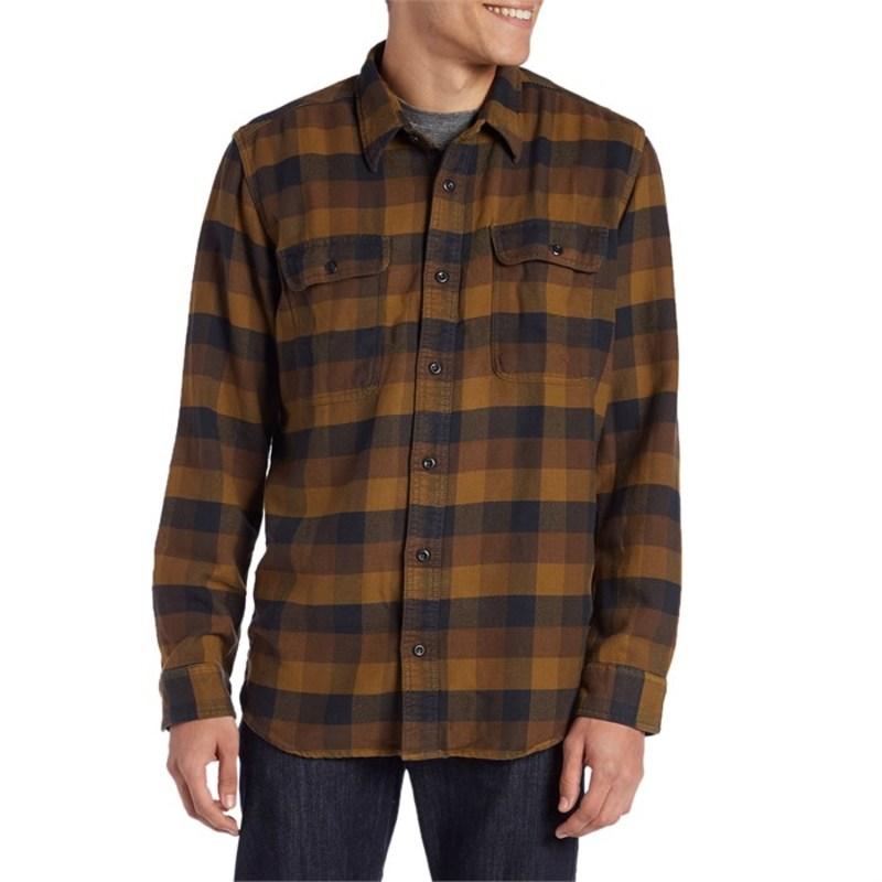 フィルソン メンズ シャツ トップス Vintage Flannel Work Shirt Button Down Brown/Navy