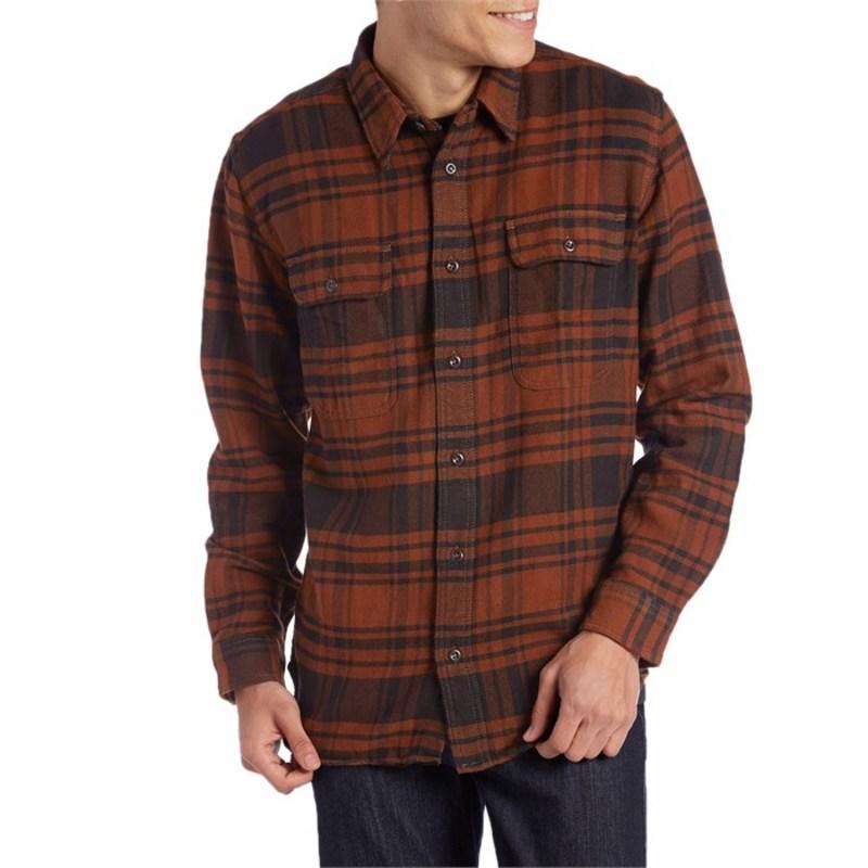フィルソン メンズ シャツ トップス Vintage Flannel Work Shirt Button Down Copper/Black