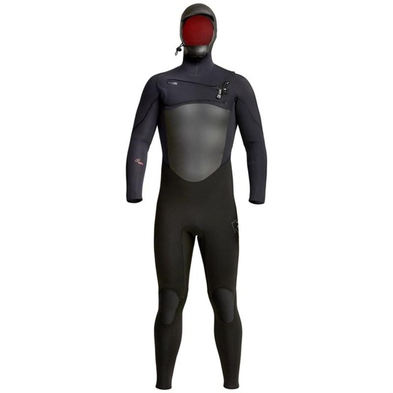 エクセル メンズ 上下セット 水着 XCEL 5/4 Infiniti Hooded Wetsuit Black