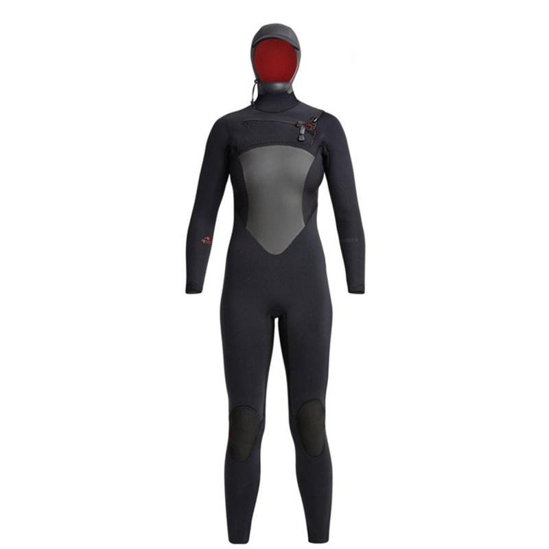 送料無料 オンライン限定商品 サイズ交換無料 エクセル 格安激安 レディース 水着 上下セット Black XCEL Hooded Wetsuit 5 Drylock 4 Women's 6 -