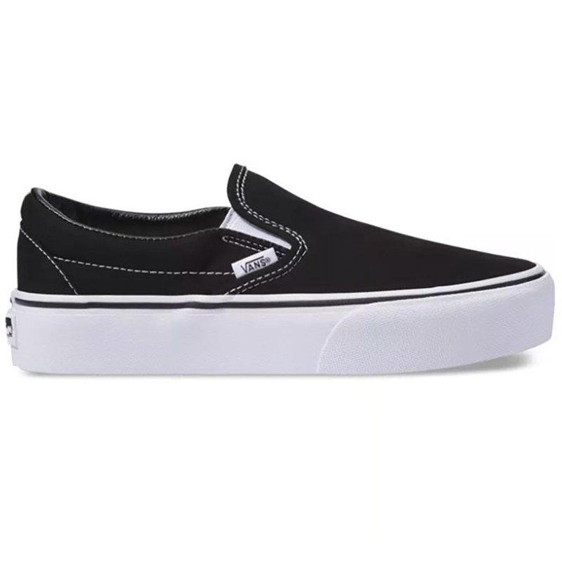 バンズ レディース スニーカー シューズ Vans Classic Slip-On Platform Shoes - Women's Black