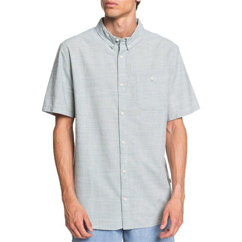 クイックシルバー メンズ シャツ トップス Quiksilver Firefall Short-Sleeve Regular Shirt Chinois Green