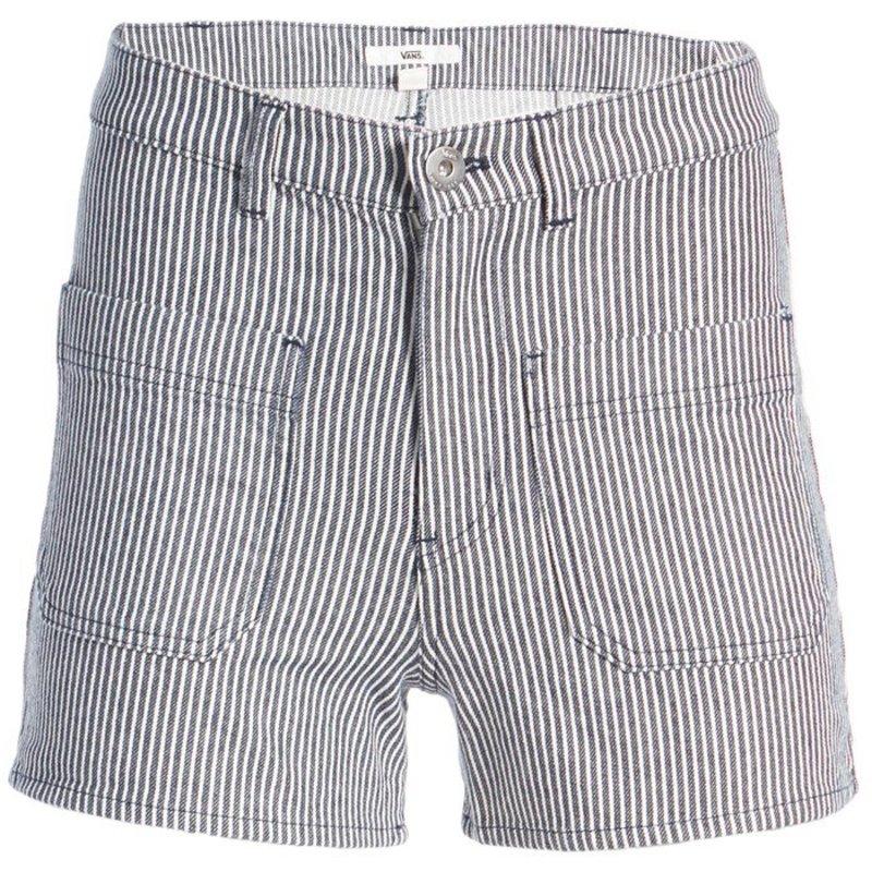 バンズ レディース ハーフパンツ・ショーツ ボトムス Vans Barrecks High-Rise Cut-Off Shorts - Women's Dress Blues