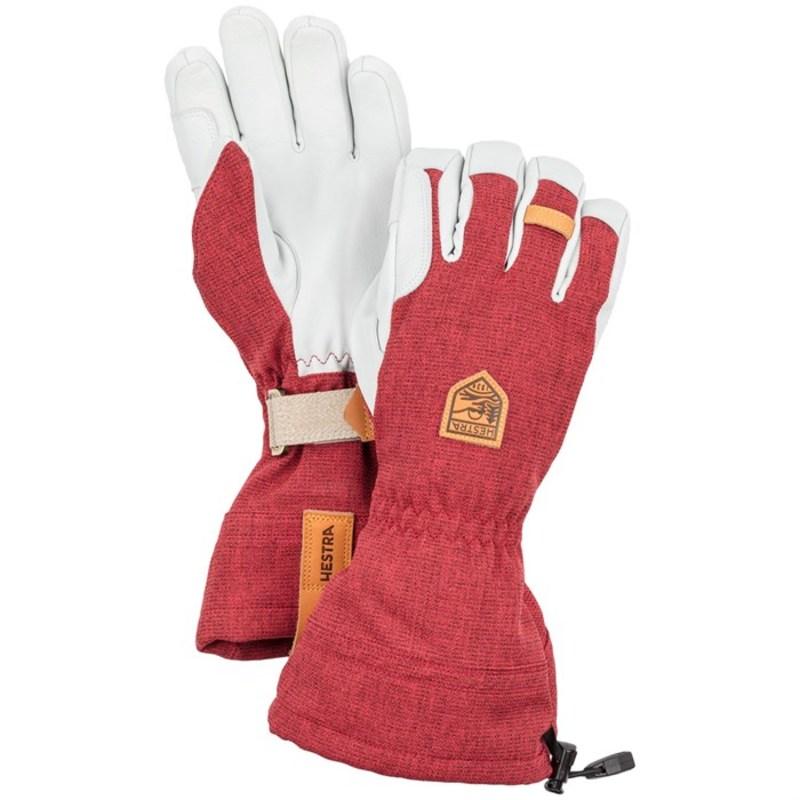 ヘストラ メンズ 手袋 アクセサリー Hestra Army Leather Patrol Gauntlet Gloves Dark Red