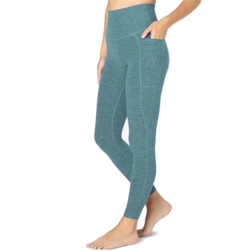 Midi Women's カジュアルパンツ Yoga - Spacedye Out Leggings Meadow High-Waisted Of Beyond Sage-Frosty ボトムス Pocket ビヨンドヨガ Glade レディース