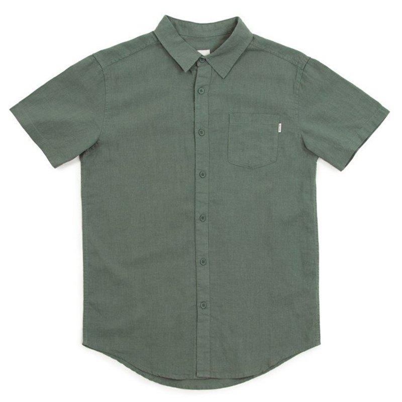 リズム メンズ シャツ トップス Rhythm Cuban Short-Sleeve Shirt Teal