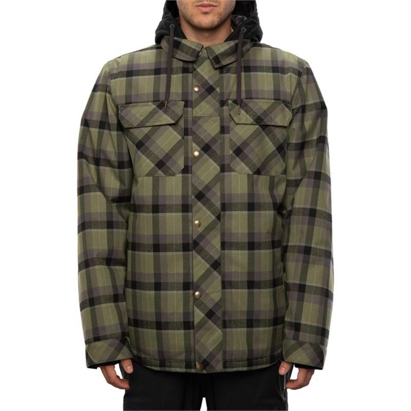 シックスエイトシックス メンズ ジャケット・ブルゾン アウター 686 Woodland Insulated Jacket Surplus Green Plaid