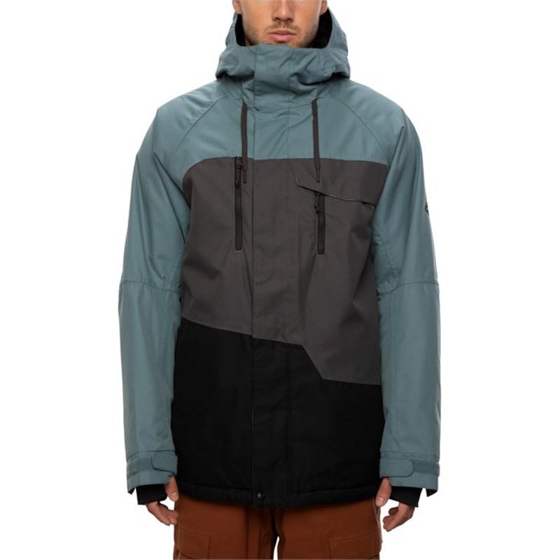 シックスエイトシックス メンズ ジャケット・ブルゾン アウター 686 Geo Insulated Jacket Goblin Blue Colorblock