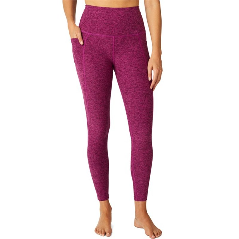 Spacedye - Leggings Pocket Beyond Magenta-Dark ボトムス Of Out Women's ビヨンドヨガ Yoga レディース Magenta High-Waisted カジュアルパンツ Midi