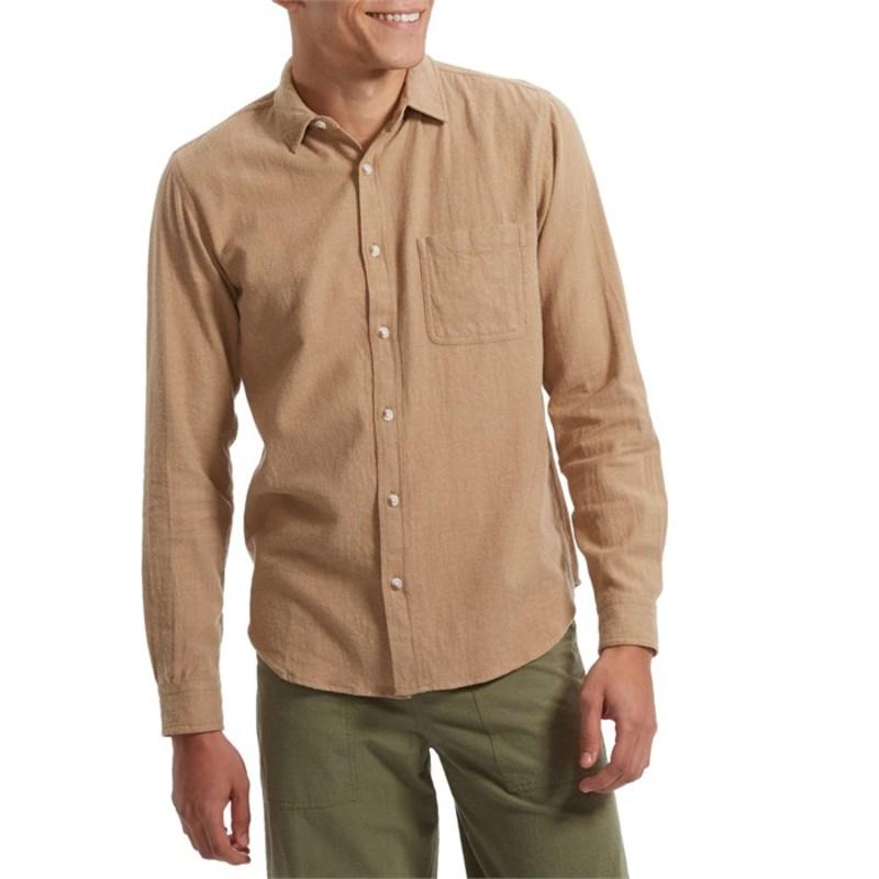 送料無料 サイズ交換無料 モラスク メンズ トップス 5☆大好評 シャツ Tan Mollusk Long-Sleeve One 奉呈 Pocket Earth Shirt