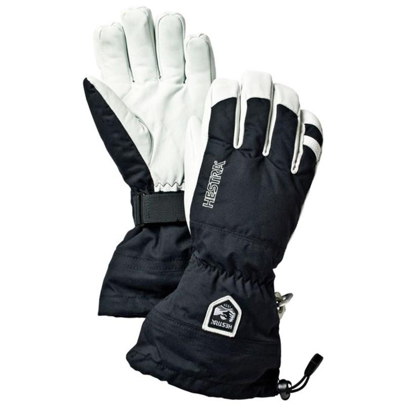 ヘストラ メンズ 手袋 アクセサリー Army Leather Heli Ski Gloves Black