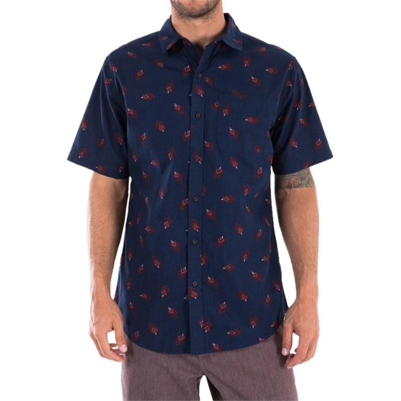 ケイティン メンズ シャツ トップス Leaves Short-Sleeve Shirt Navy
