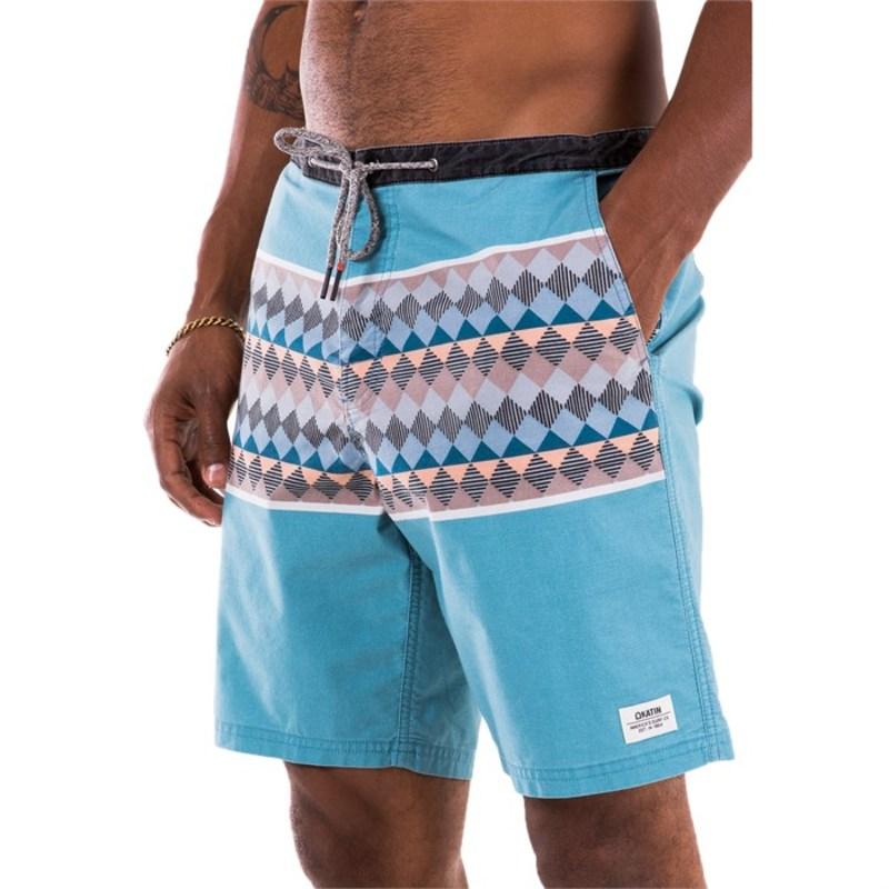 ケイティン メンズ ハーフパンツ・ショーツ 水着 Patchwork Shorts Oasis Blue